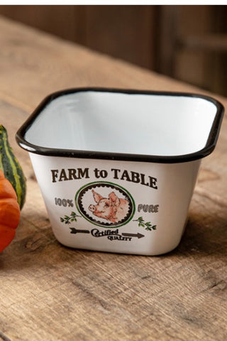 Farm To Table Square Bowl - The Diamond Spur Boutique
