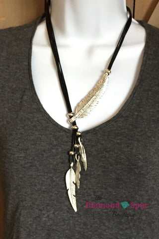 Feather Necklace - The Diamond Spur Boutique