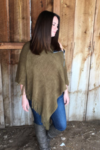 Zipper Poncho - The Diamond Spur Boutique