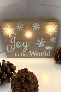"LED Light Up Christmas Sign-""Joy"" - The Diamond Spur Boutique"