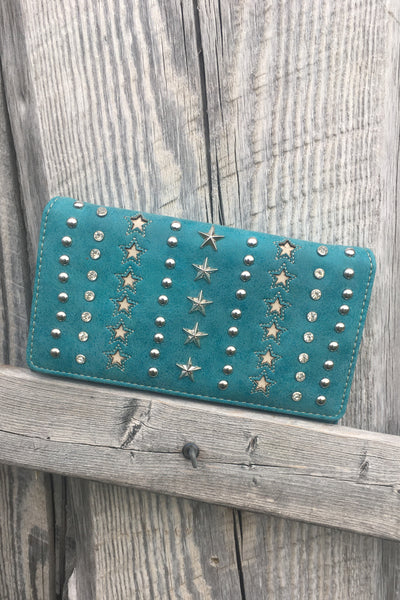 Stars and Bling Wallet - The Diamond Spur Boutique