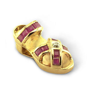 Sandal with Rubies