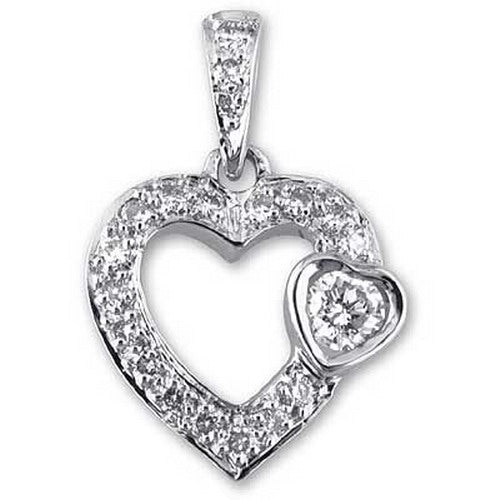 Heart Pendant with Diamonds