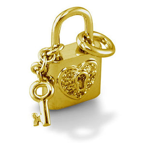 Love Lock and Key with Diamonds