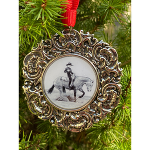 Christmas Ornament Reining Horse