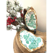 Load image into Gallery viewer, Oyster Shell Dish, Green Chinoiserie, Chinese House Art