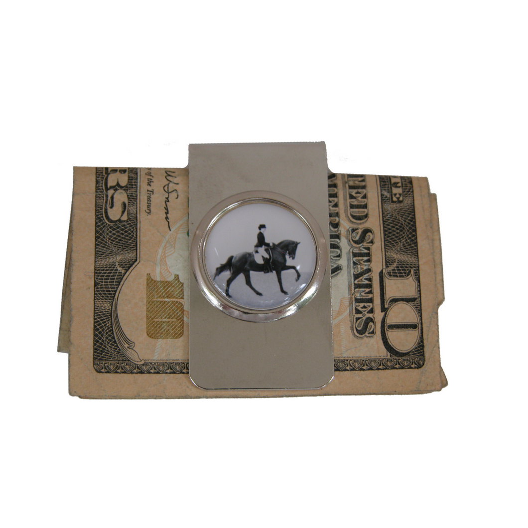 Dressage silver Money Clip
