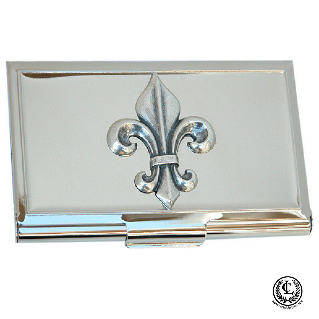 Fleur de Lis Business Card Holder – Classic Legacy