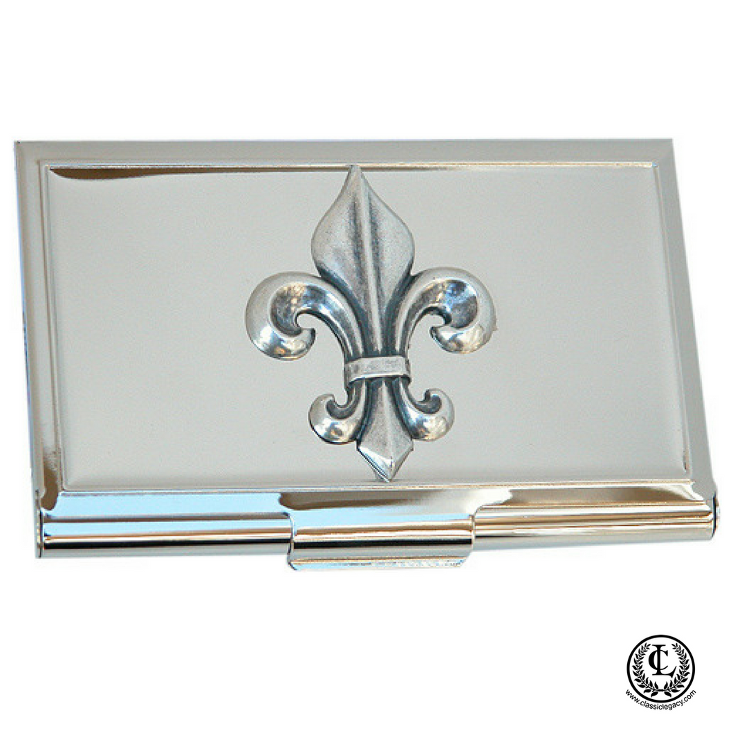 Fleur de lis business card holder classic legacy fleur de lis business card holder magicingreecefo Gallery