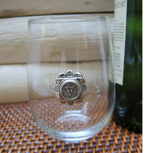 Stemless Wine Glass Initial Theme