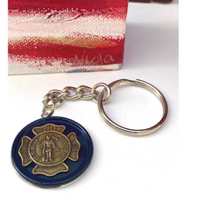 Load image into Gallery viewer, Firefighter key ring,  Saint Florian Key Ring