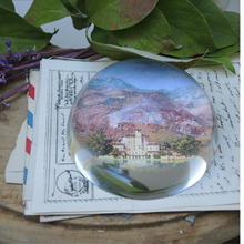 Load image into Gallery viewer, Crystal Domed Paperweight, Custom Image for Personalized Gift