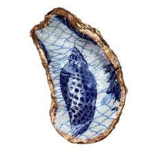 Signature Oyster Shell Ring Dish Chinoiserie Blue and White Hostess Gift