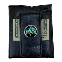 Faux Leather Money Clip, Irish theme, Irish Shamrock gift