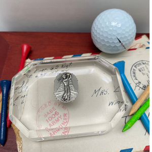 Paperweight, Acrylic Octagon, Golf Theme