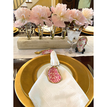 Load image into Gallery viewer, Napkin Ring, Oyster Shell, Pink Ikat, Handmade