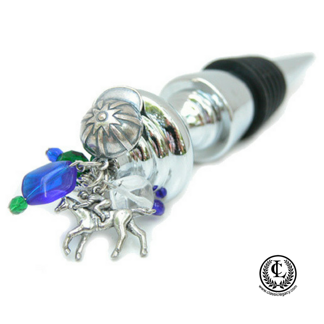Bottle Stopper, Race Horse Charms, Horse Racing Gift, Derby Gift