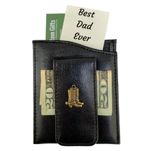 Load image into Gallery viewer, Money Clip, Cowboy Boots,  Black Faux Leather, Gift for Him