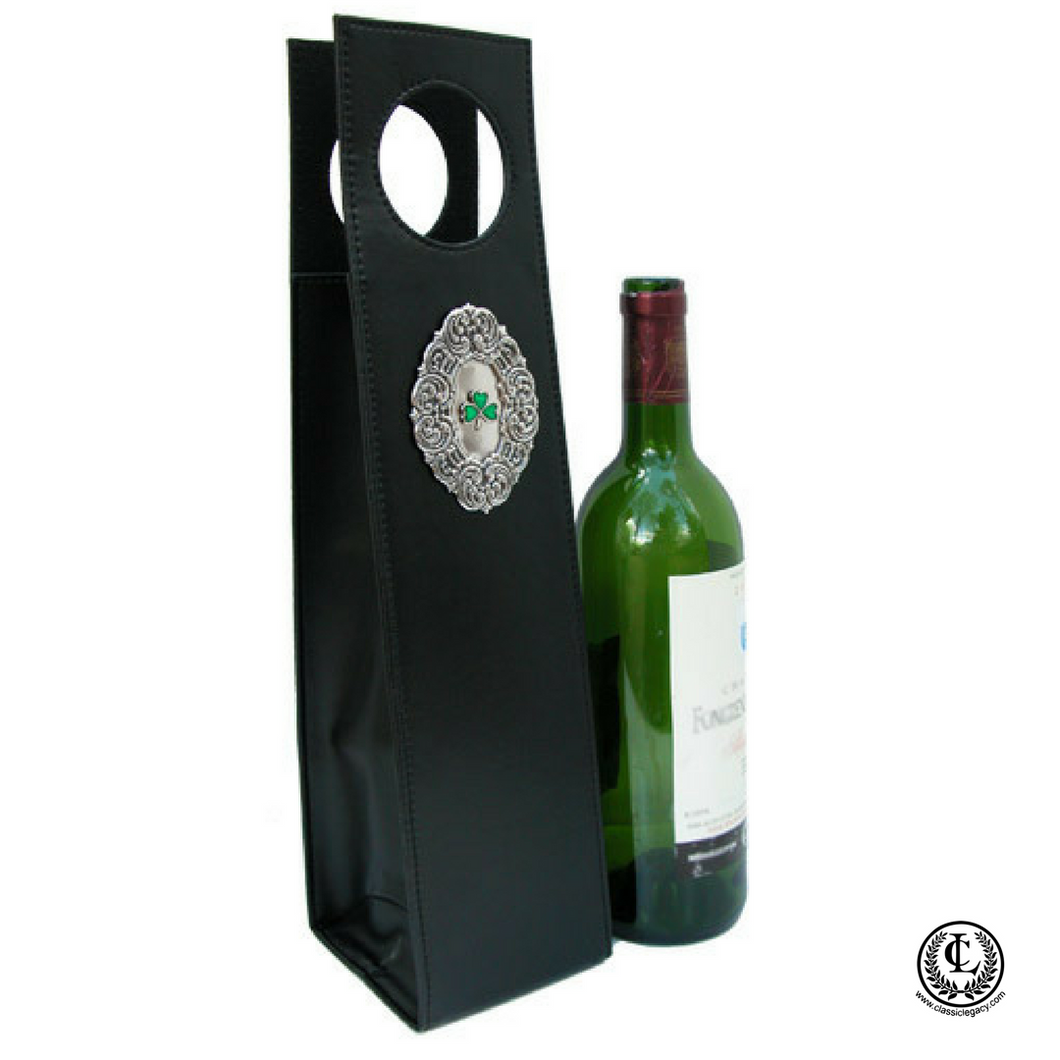 Wine Carrier, Irish Medallion,  Irish Gift