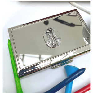 Business Card Holder, Golf Theme