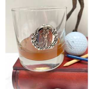 Golf Bourbon Glass, Double Old Fashion,