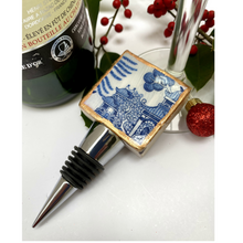 Bottle Stopper Marble Blue White Chinoiserie Chinese House