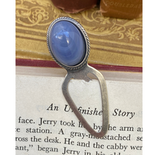 Load image into Gallery viewer, Bookmark, Silver Plate,  Colorful Cabochon, Book Lover Gift