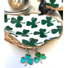 Load image into Gallery viewer, Oyster Shell Dish, Shamrocks, Irish, St. Patrick's Day Gift