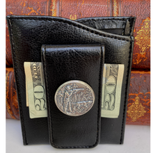 Load image into Gallery viewer, Money Clip, Hunter Theme, Black Faux Leather