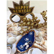 Load image into Gallery viewer, Oyster Shell Dish,  State of Louisiana Flag, Pelican Blue White