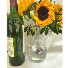 Load image into Gallery viewer, Stemless Wine Glass, Silver Medallion