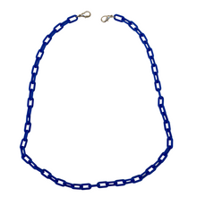 Load image into Gallery viewer, Necklace Chain, Blue, Acrylic, Lobster Claw Connectors