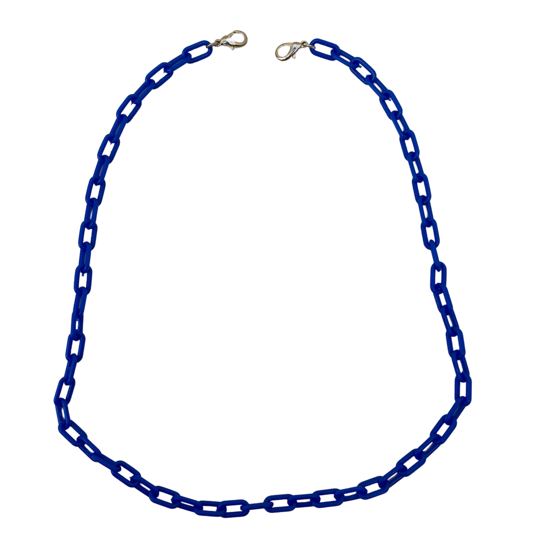 Necklace Chain, Blue, Acrylic, Lobster Claw Connectors