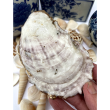 Oyster Shell Dish, Crown Design, Jewelry Dish
