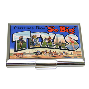 Business Card Holder Vintage Texas Postcard Art