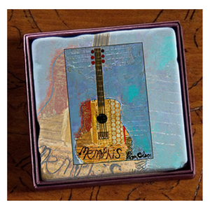 Coaster Marble Ron Olson Memphis Blue Guitar Art