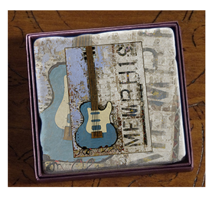 Coaster Marble Ron Olson Memphis Galaxy Guitar Art