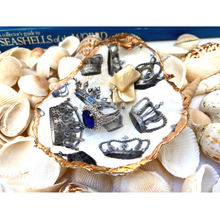 Load image into Gallery viewer, Oyster Shell Dish, Crown Design, Jewelry Dish