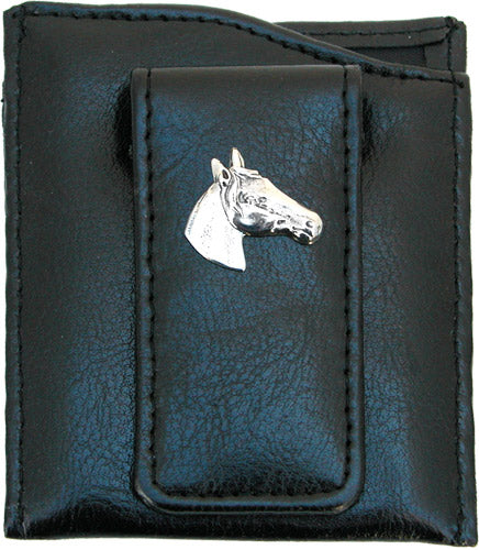 Money Clip Horse Faux Leather