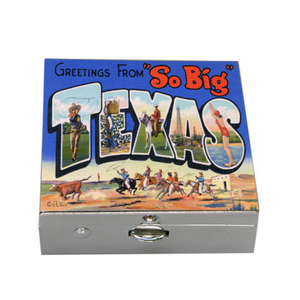Silver Box Texas Vintage Postcard Art
