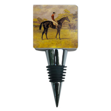 Load image into Gallery viewer, Marble Bottle Stopper Vintage Race Horse Iroquois Art