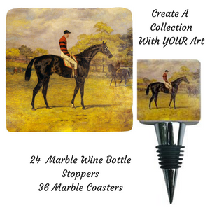Custom Gift Collection Marble Bottle Stopper and Marble Coaster