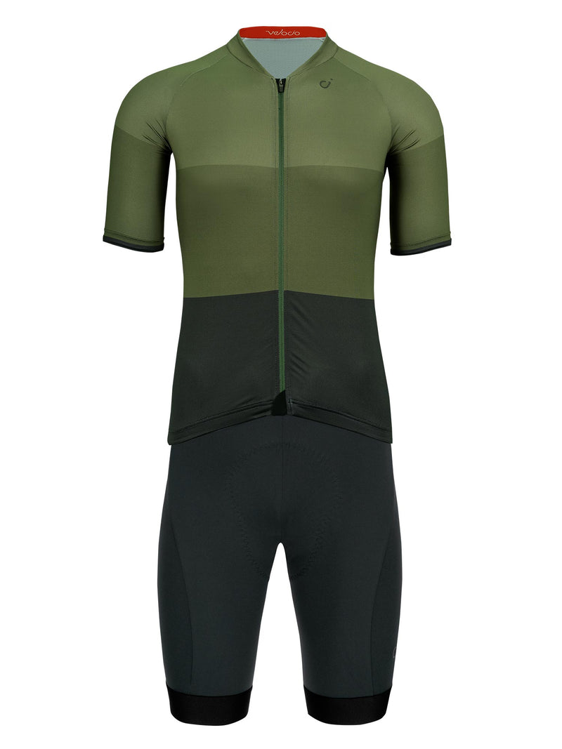 velocio mens tricolor dark olive kit