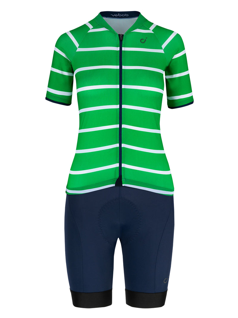 velocio womens breton green sign navy kit