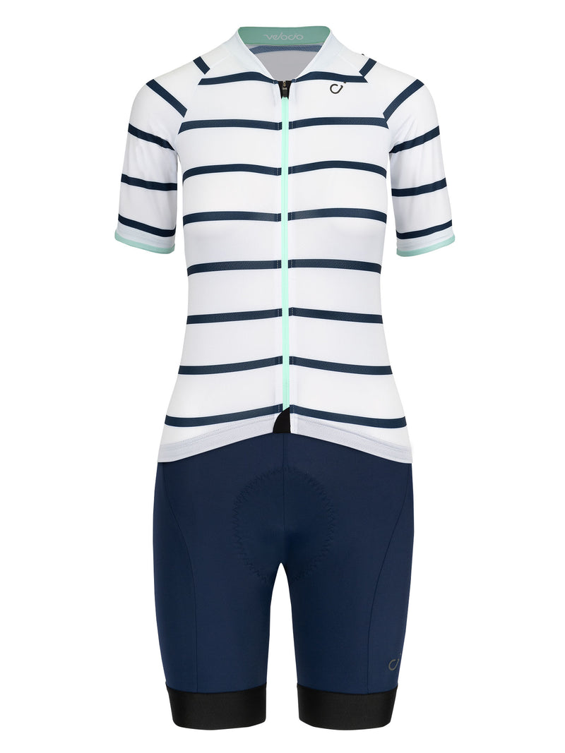 velocio womens breton white sign navy kit