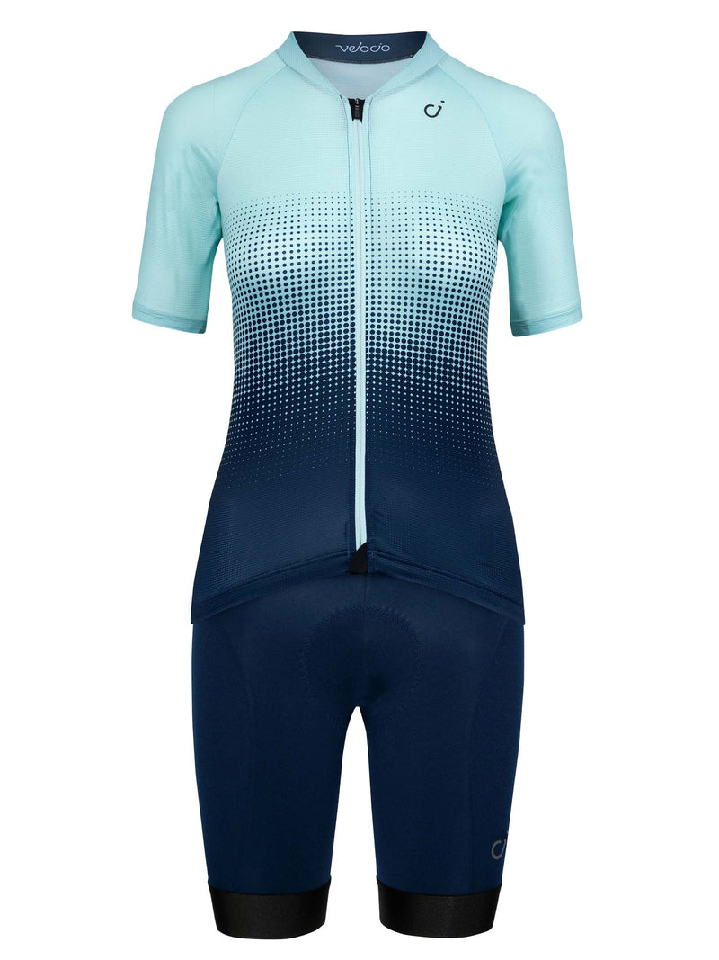 velocio womens halftone mint navy kit