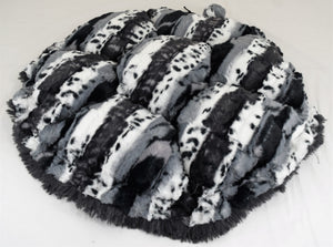 Exotic Black & Black Shag Swaddle Bed
