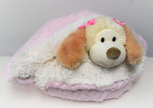 Baby Pink Mink & Cream Shag Snuggle Bed