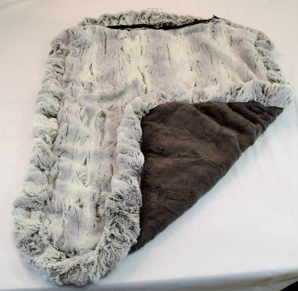 Silver Fox & Grey Shag Travel Bed/Blanket