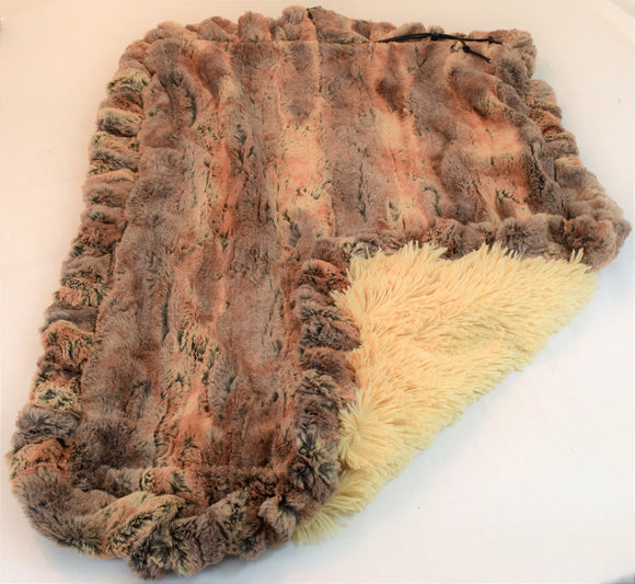 Red Fox & Camel Shag Travel Bed/Blanket